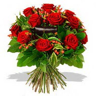 9 adet kirmizi gül ve kir çiçekleri  Ulus Ankara hediye sevgilime hediye çiçek