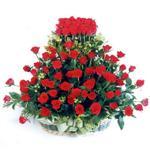 Ulus Ankara çiçek satışı  41 adet kirmizi gülden sepet tanzimi