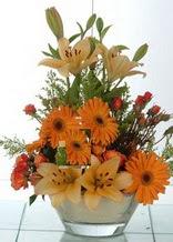Ulus Ankara çiçek gönderme  cam yada mika vazo içinde karisik mevsim çiçekleri