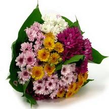 Karisik kir çiçekleri demeti herkeze
