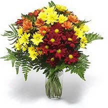 Ulus Ankara anneler günü çiçek yolla  Karisik çiçeklerden mevsim vazosu