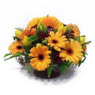 gerbera ve kir çiçek masa aranjmani  Ulus Ankara çiçek mağazası , çiçekçi adresleri