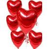 Ulus Ankara hediye çiçek yolla  17 adet FOLYO kalp görünümünde uçan balon