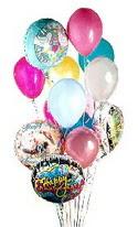 Ulus Ankara kaliteli taze ve ucuz çiçekler  görsel kaliteli 17 uçan balon buketi tanzimleri