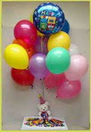 Ulus Ankara İnternetten çiçek siparişi  25 adet uçan balon ve 1 kutu çikolata hediye