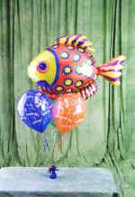 Ulus Ankara kaliteli taze ve ucuz çiçekler  9 adet uçan balon renkli oyuncak balonlar