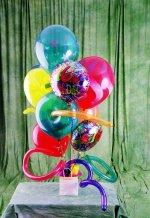 Ulus Ankara çiçek , çiçekçi , çiçekçilik  karisik görüntüde renkli uçan balon buketi