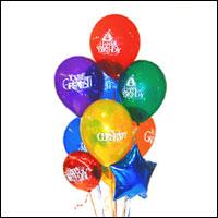 Ulus Ankara çiçekçi mağazası  21 adet renkli uçan balon hediye ürünü