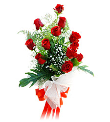 11 adet kirmizi güllerden görsel sölen buket  Ulus Ankara çiçek mağazası , çiçekçi adresleri
