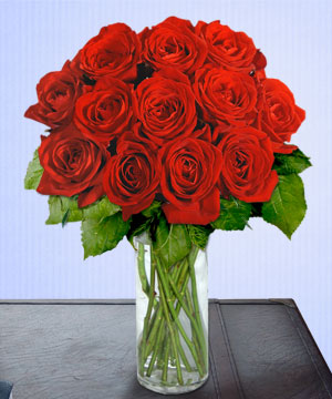 Anneme 12 adet cam içerisinde kirmizi gül  Ulus Ankara anneler günü çiçek yolla