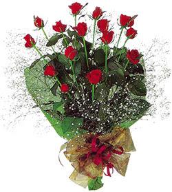 11 adet kirmizi gül buketi özel hediyelik  Ulus Ankara 14 şubat sevgililer günü çiçek