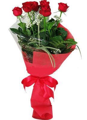 7 adet kirmizi gül buketi  Ulus Ankara çiçekçi mağazası