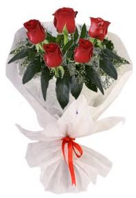 5 adet kirmizi gül buketi  Ulus Ankara çiçek online çiçek siparişi