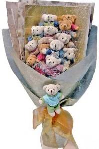 12 adet ayiciktan buket tanzimi  Ulus Ankara güvenli kaliteli hızlı çiçek