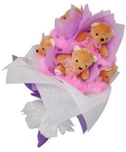 9 adet ayiciktan buket  Ulus Ankara çiçek gönderme sitemiz güvenlidir