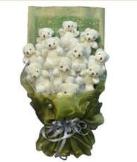 11 adet pelus ayicik buketi  Ulus Ankara kaliteli taze ve ucuz çiçekler