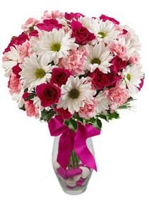 Ulus Ankara anneler günü çiçek yolla  Karisik mevsim kir çiçegi vazosu