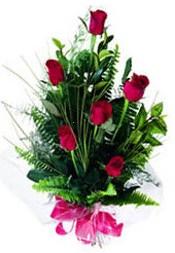 Ulus Ankara çiçek , çiçekçi , çiçekçilik  5 adet kirmizi gül buketi hediye ürünü