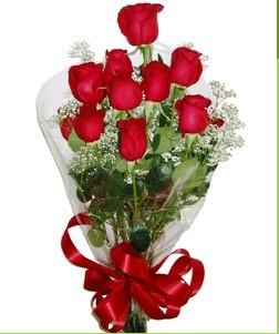 Ulus Ankara online çiçekçi , çiçek siparişi  10 adet kırmızı gülden görsel buket