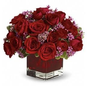 11 adet kırmızı gül vazosu  Ulus Ankara çiçek online çiçek siparişi