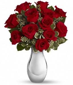 Ulus Ankara çiçek mağazası , çiçekçi adresleri   vazo içerisinde 11 adet kırmızı gül tanzimi