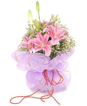3 dal kazablanka görsel buketi  Ulus Ankara hediye sevgilime hediye çiçek