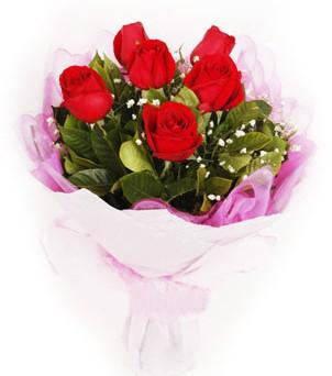 Ulus Ankara çiçek gönderme sitemiz güvenlidir  kırmızı 6 adet gülden buket