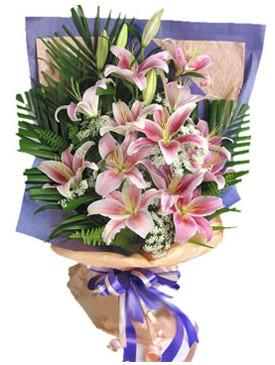 7 dal kazablankadan görsel buket  Ulus Ankara çiçek satışı
