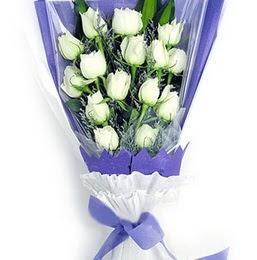 Ulus Ankara 14 şubat sevgililer günü çiçek  11 adet beyaz gül buket modeli