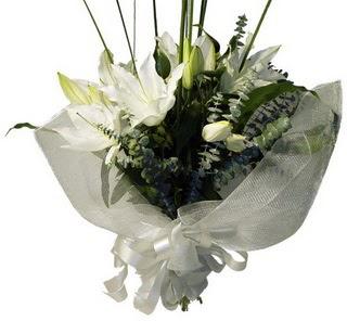 Ulus Ankara 14 şubat sevgililer günü çiçek  2 dal kazablanka çiçek buketi