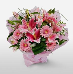 1 dal kazablanka ve kır çiçek görsel buketi  Ulus Ankara hediye sevgilime hediye çiçek