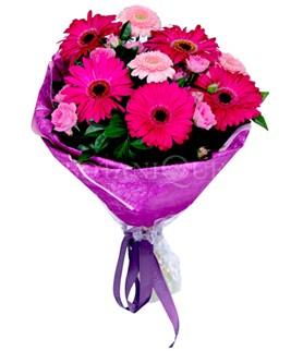 Ulus Ankara anneler günü çiçek yolla  karışık gerbera çiçeği buketi