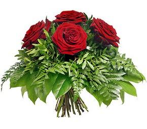 Ulus Ankara çiçekçi telefonları  5 adet kırmızı gülden buket