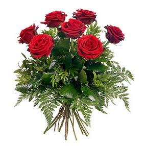 Ulus Ankara kaliteli taze ve ucuz çiçekler  7 adet kırmızı gülden buket