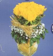 Ulus Ankara İnternetten çiçek siparişi  Cam vazoda 9 Sari gül