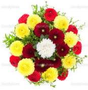 Ulus Ankara 14 şubat sevgililer günü çiçek  13 adet mevsim çiçeğinden görsel buket