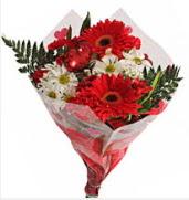 Mevsim çiçeklerinden görsel buket  Ulus Ankara çiçek online çiçek siparişi