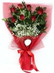 7 adet kırmızı gülden buket tanzimi  Ulus Ankara güvenli kaliteli hızlı çiçek