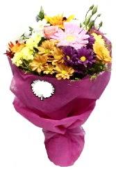 1 demet karışık görsel buket  Ulus Ankara İnternetten çiçek siparişi