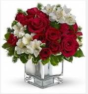 11 adet kırmızı gül ve beyaz kır çiçekleri  Ulus Ankara çiçek yolla , çiçek gönder , çiçekçi