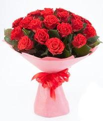 15 adet kırmızı gülden buket tanzimi  Ulus Ankara anneler günü çiçek yolla