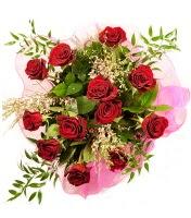 12 adet kırmızı gül buketi  Ulus Ankara çiçek yolla , çiçek gönder , çiçekçi
