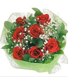 7 adet kırmızı gülden buket tanzim  Ulus Ankara güvenli kaliteli hızlı çiçek