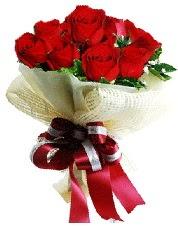 Görsel 12 adet kırmızı gül buketi  Ulus Ankara kaliteli taze ve ucuz çiçekler