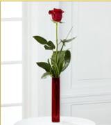 Vazo içerisinde 1 adet kırmızı gül  Ulus Ankara çiçek servisi , çiçekçi adresleri