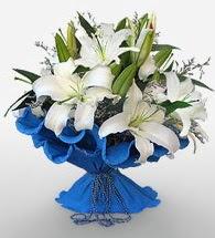 4 dal kazablanka çiçeğinden buket  Ulus Ankara güvenli kaliteli hızlı çiçek