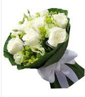 9 adet beyaz gül buketi  Ulus Ankara anneler günü çiçek yolla
