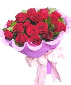 12 adet kırmızı gülden görsel buket  Ulus Ankara 14 şubat sevgililer günü çiçek