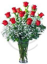 vazo içerisinde 12 adet kırmızı gül  Ulus Ankara online çiçekçi , çiçek siparişi