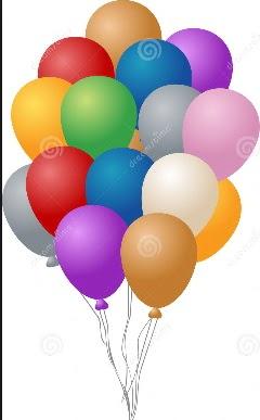 20 adet karışık renkli uçan balon siparişi
